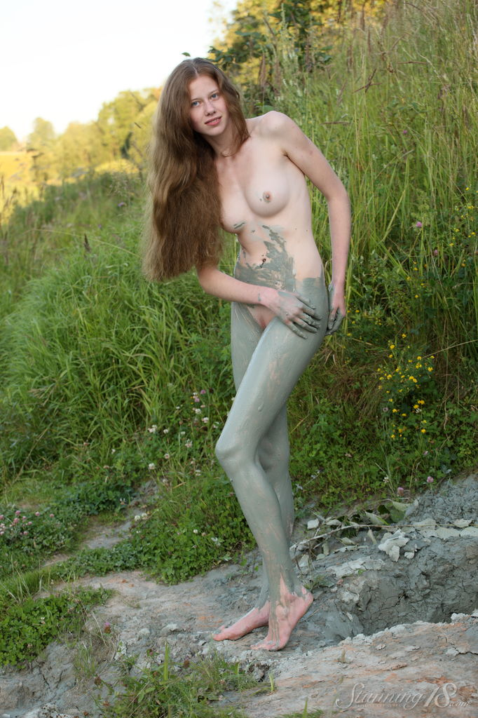 Babes naked in the mud